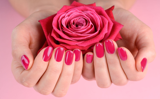 Perfecte rose gelnagels